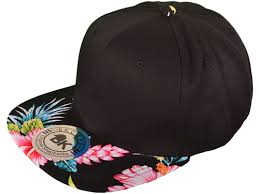 floral snapback wholesale cotton flat bill floral snapback hats front is black
