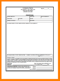 6 contract proposal sample proposal template 2017