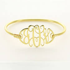Monogrammed Bangle Bracelet Jewelry Heartstrings Collection