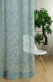 Embroidered Linen Curtains Buy Fadfay Solid Color Linen Curtains For Living Room Bedroom