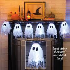 halloween ghost string lights halloween string lights ghosts led window mantel lighting battery
