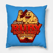 Rock Candy Adult - goron s ruby rock candy triforce throw pillow teepublic