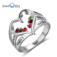 rings love heart images New 925 sterling silver birthstone ring engrave name engagement jpg