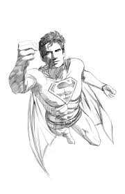 superman flying sketch djohnhudd deviantart