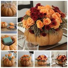 diy pumpkin vase thanksgiving centerpiece pictures photos and