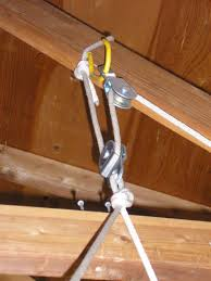 How To Build Garage Storage Lift by Bwca Canoe Storage Hoist System Boundary Waters Gear Forum