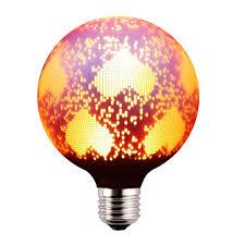 g80 g95 g125 artistic motif decorative led bulb pink heart design