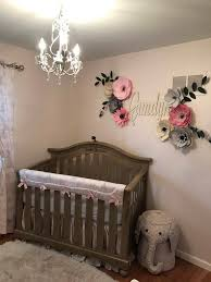 Pink Peonies Nursery Paper Flowers Above The Crib Large Pink Paper Flower Wall Decor