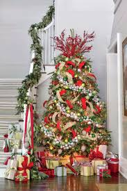 red interior design christmas tree decorating ideas southern living