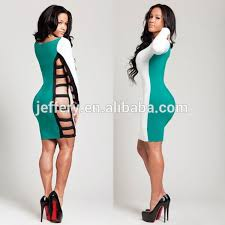 new lady fashion club dress bodycon long sleeve hollow out