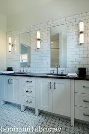 design subway tile backsplash bathroom decor ideas faucets bronze