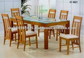 Glass Topped Dining Room Tables Buy Marlow 6 Seater Dining Table Glass Top In India And For