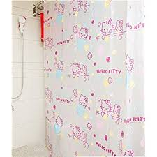 Environmentally Friendly Shower Curtain Hello Fluttering Hearts Fabric Shower Curtain