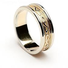 celtic knot wedding bands two tone celtic knot wedding ring 14k gold with white gold trim