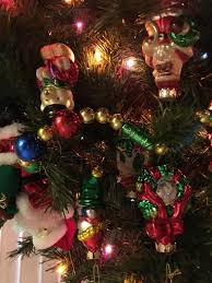 prelit tree with pacconi ornaments talk of the villages