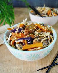cuisiner les l umes autrement wok au seitan carotte chignon oignon et pousses de