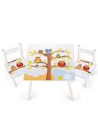 table chambre enfant table et 2 chaises enfant motif de hiboux chambre enfant meuble