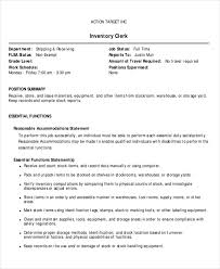 Receiving Clerk Job Description Resume by Warehouse Job Description Stock Resume Stocker Job Description