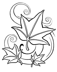fall leaves and acorn coloring page inside coloring pages