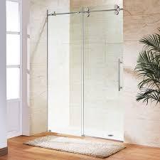 Single Frameless Shower Door Vigo Vg6041chcl5274 Chrome 74 H X 52 W Single Sliding Frameless