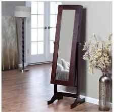 Ebay Jewelry Armoire Black Wood Full Length Mirror Jewelry Armoire Cabinet Storage