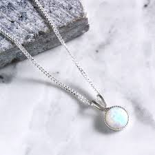 opal sterling silver necklace images Kathia sterling silver opal necklace by aluna mae jpg