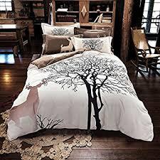 Beddings Sets Svetanya Tree Deer Printed Pattern Quilt Cover