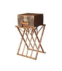 Panama Foldaway Luggage Rack Wood Our Favorite Wes Anderson Inspired Décor Picks Mydomaine