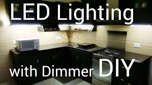 led lighting for home with dimmer diy youtube