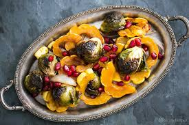 thanksgiving brussel sprout recipes maple glazed roasted delicata squash and brussels sprouts recipe