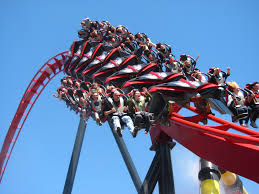 6 Flags In Chicago File X Flight Train Exiting Inversion Jpg Wikimedia Commons
