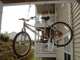Bicycle Ceiling Hoist by Bike Rack Ed Bicycle Hoist