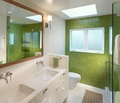 Minimalist Bathroom Design by Minimalist Bathroom Design With Vanity Big Mirror And Green Wall