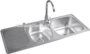 Double Bowl Stainless Steel Sink With Drainboard Double Bowl - Double sink for kitchen