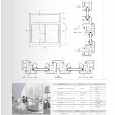 Window Framing Diagram Kinbon Quality Upvc Fixed Window Profiles Linear Window Profile
