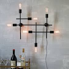 Industrial Wall Sconce Lighting Industrial Grid Wall Sconce West Elm