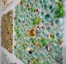 handmade glass wall panel art work fused tubing series by wolf