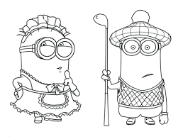 minion coloring pages kevin colouring bob cute free