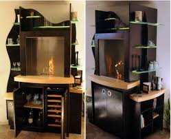 wine cooler cabinet furniture wooden cabinet with built in fireplace and a wine cooler homecrux