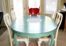 Large Kitchen Tables And Chairs by Colorful Painted Dining Table Inspiration