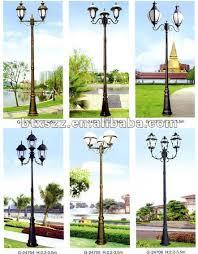 garden outdoor yard street cast iron wood lamp post buy wood