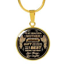 best necklace stores images To my mom you are the best gold engraved necklace lyfetree store png