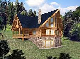 log cabin floor plans with basement two house plan with walkout basement walkout basement