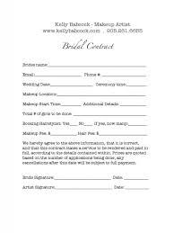 makeup contracts for weddings makeup service contract template makeup vidalondon