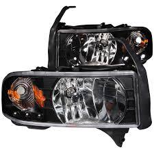 02 dodge ram headlights ram 2500 3500 anzo headlights black w l e d 111205