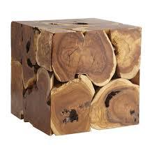 Cube Side Table Teak Cube Side Table Wisteria