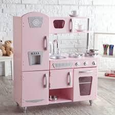 cuisine kidkraft vintage kidkraft vintage wooden play kitchen in pink walmart com