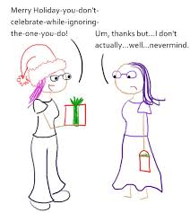 wrong to ask merry versus happy holidays