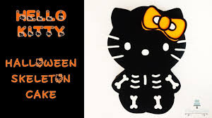 halloween cake kitty skeleton how to make from creative ckaes by