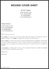 example of a cover sheet for resume 15 relocation letters cv
